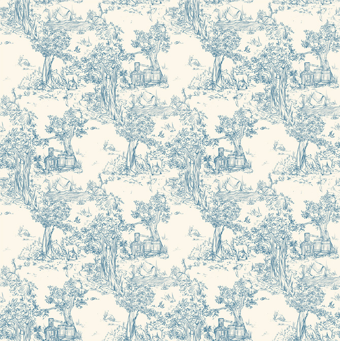 blue fabric pattern