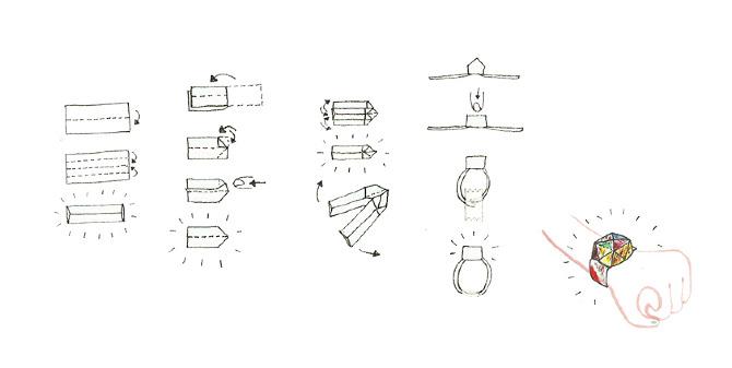 Origami Bracelet Instructions Tutorial Handmade