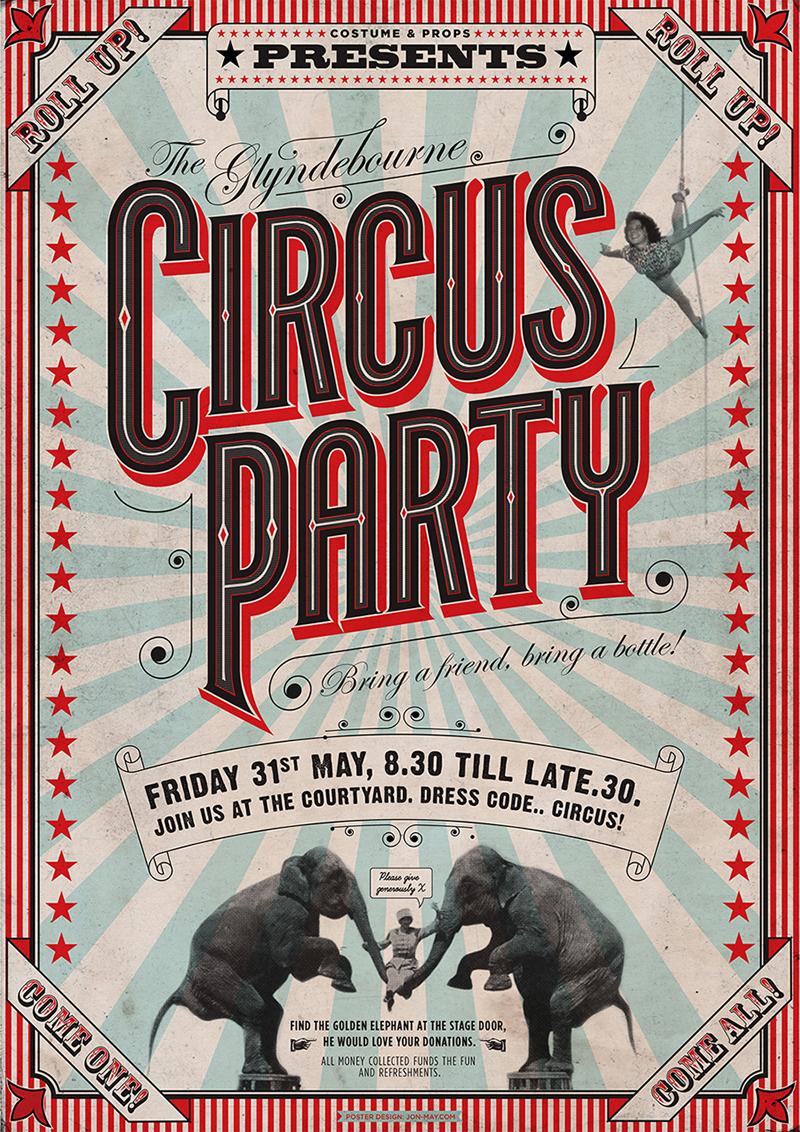 glyndebourne circus party jon may design amp illustration