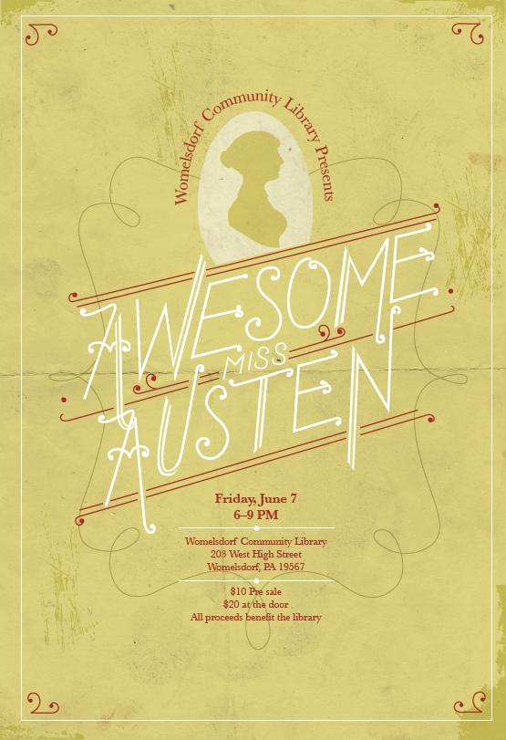 Jane Austen Event Poster - Erin Hulse